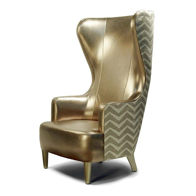 Types Of High Back Accent Chairs Classy Gold High Back Accent