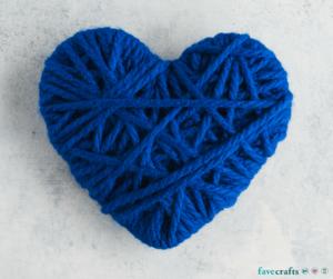 Union Jack Yarn Heart Garland