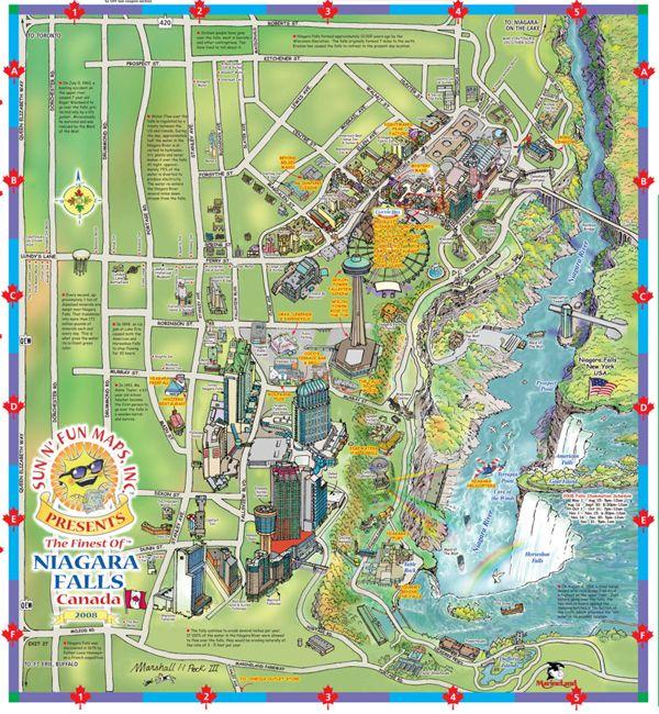 niagara falls tourism map Maps Update 15001137 Niagara Falls Tourist Attractions Map niagara falls tourism map