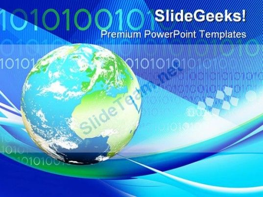 Earth And Binary Globe Powerpoint Templates And Powerpoint