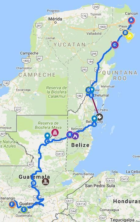 The Ultimate Mexico, Belize, Guatemala Travel Itinerary