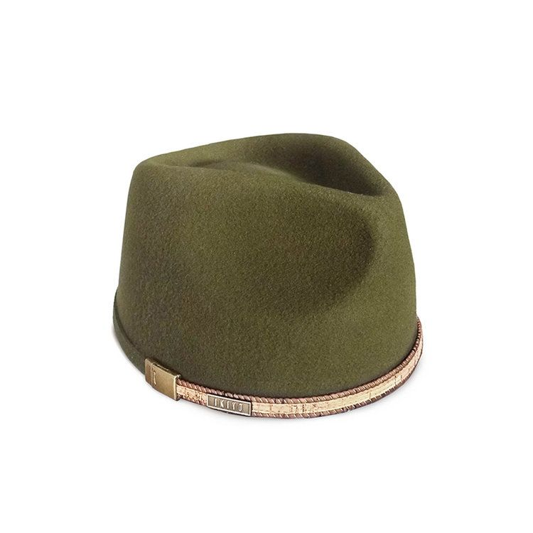 Rustic Green Kufi Hat With Cork Leather Cord Men African Fashion African Men Fashion Hats