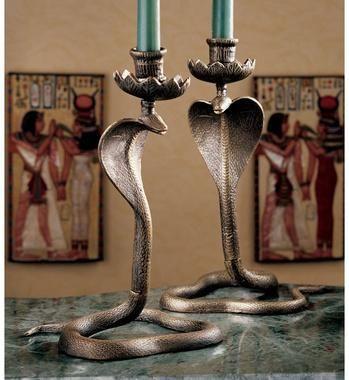 Toscana Uraeus Royal Egyptian candlesticks $19.95
