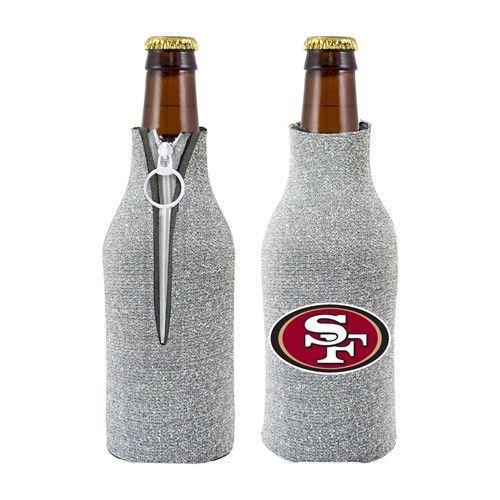 San Francisco 49ers NFL Womens Glitter Bottle Cooler
