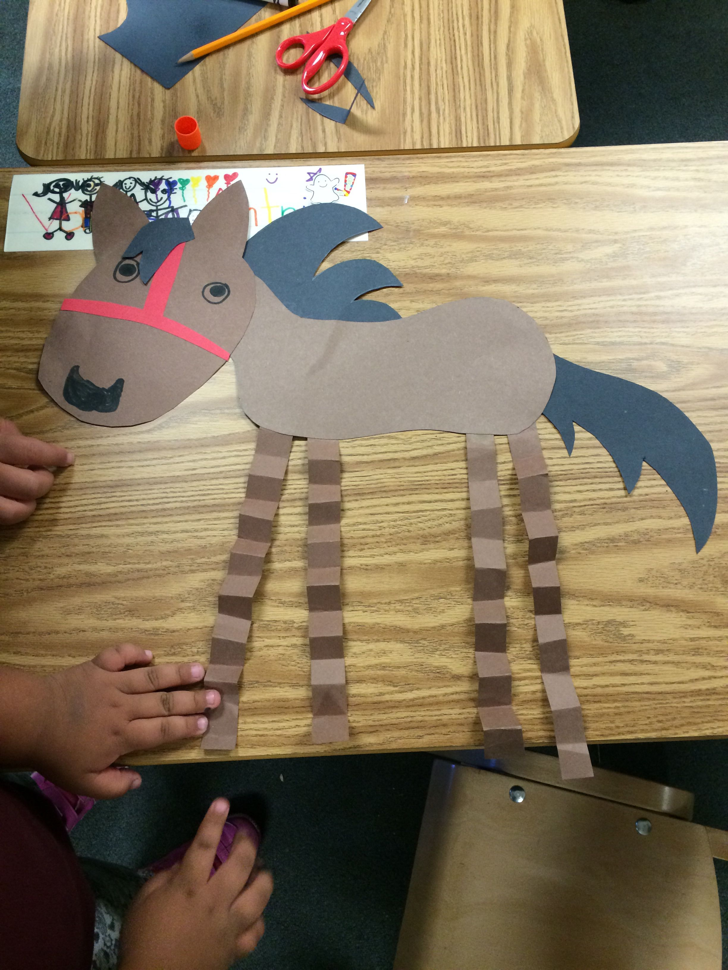 Horse Craft Kids Project Preschool Dhh Playgroup Crafts