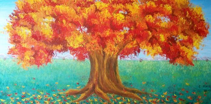 pintura arbol - Buscar con Google pinturas arboles y hojas