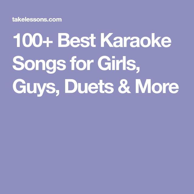 Karaoke duets ideas