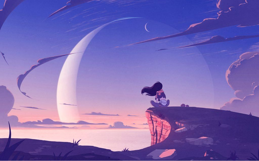 2560 1600 Anime Alone Girl On Mountain Anime Wallpaper Anime Scenery Cute Desktop Wallpaper