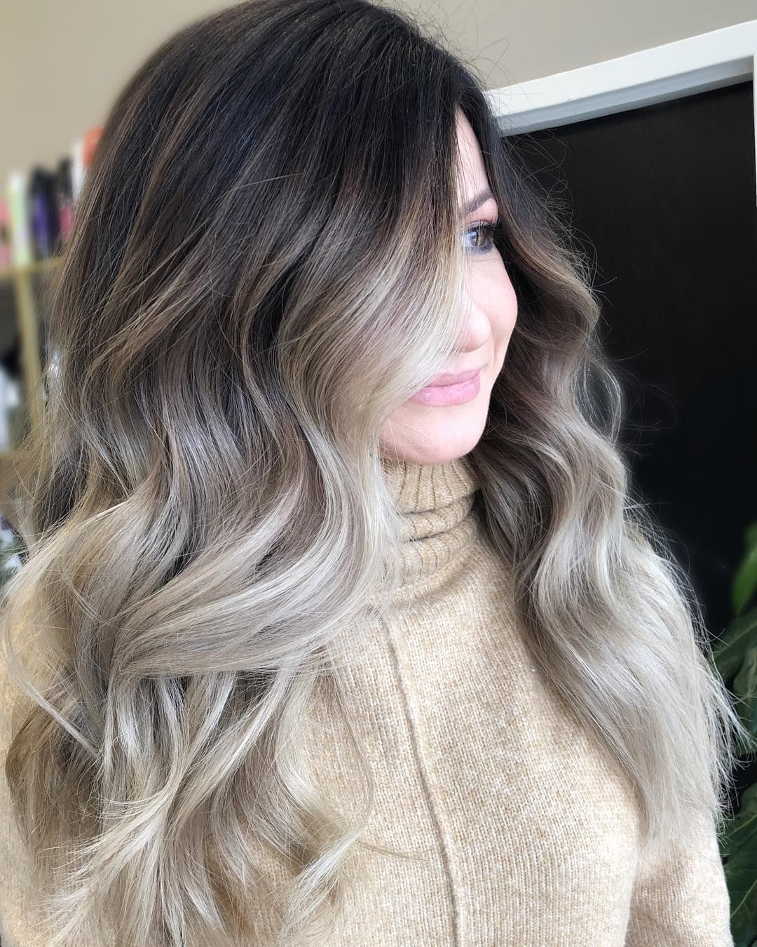 "TᗩᗷETᕼᗩ ᑕᗩᖇᑎᔕ on Instagram: ""You are so use to your features, you don't know how beautiful you look to a stranger. #beautiful @redken @pravana"" #ashblondebalayage"
