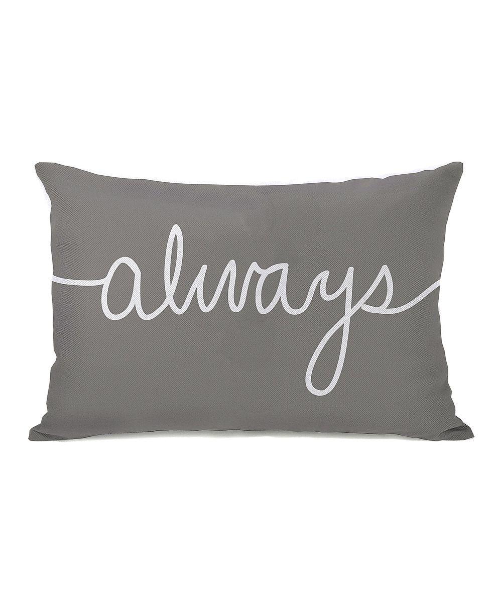 Gray Always Mix & Match Throw Pillow Home Pinterest Vinil textil, Con letra y Vinil