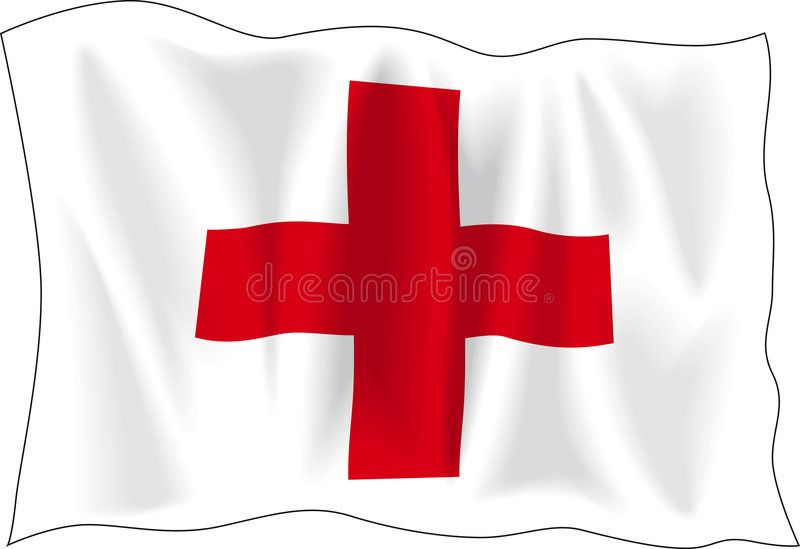 Flag Of Red Cross Waving Flag Of Red Cross Isolated On White Sponsored Cross Red Flag Waving White Ad Red Cross Flag Logo Design