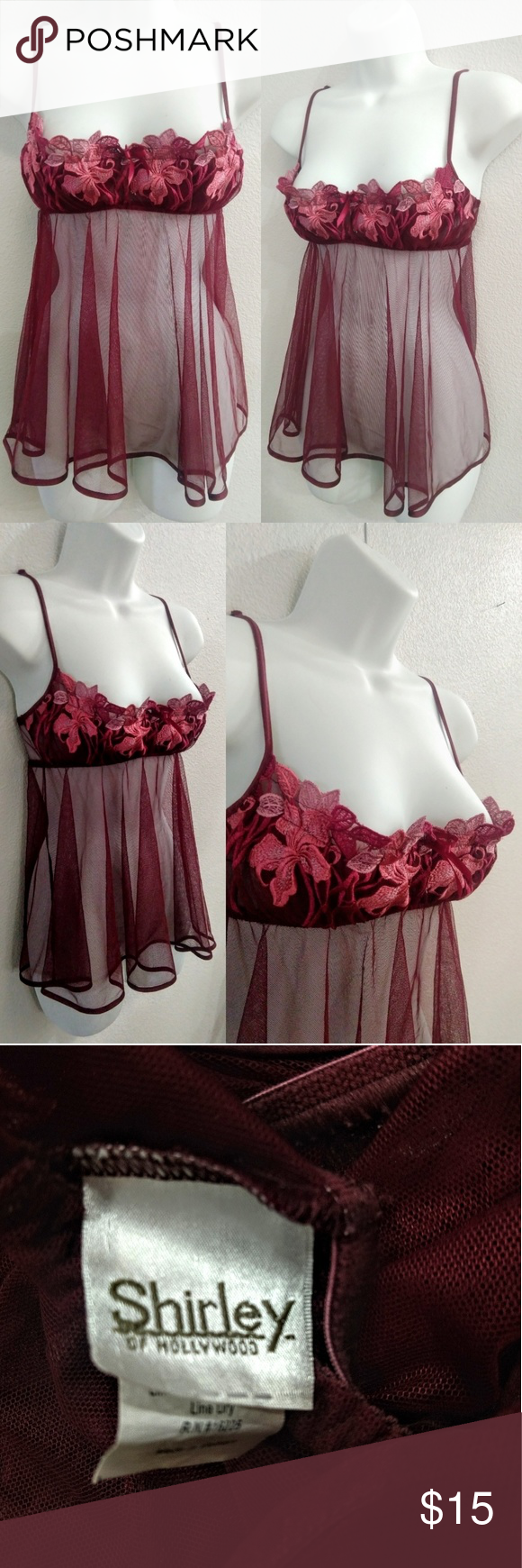 26ca259529cae Shirley of Hollywood Chemise lingerie Size small chemise. Shirley of  Hollywood brand. Shirley of Hollywood Intimates   Sleepwear Chemises   Slips