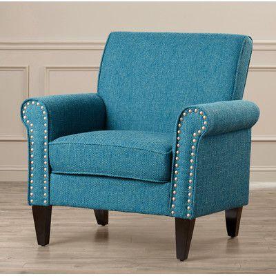 Magnificent Trent Austin Design Amet Armchair Upholstery Peacock Blue Unemploymentrelief Wooden Chair Designs For Living Room Unemploymentrelieforg