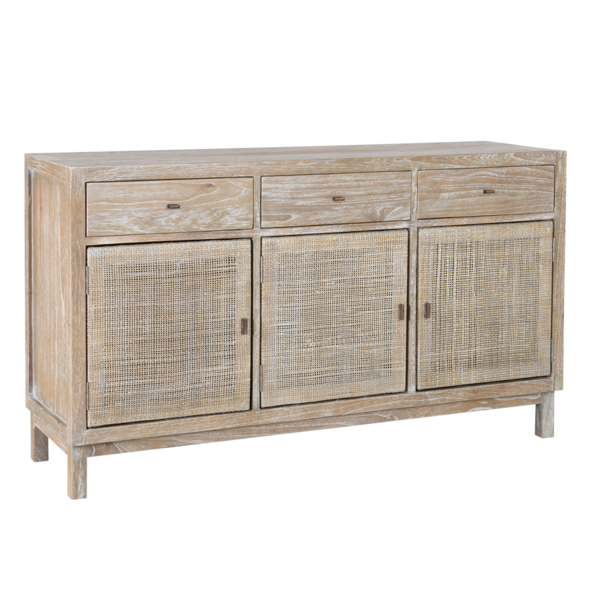 Shiloh Woven Sideboard Sideboard Grey Adjustable Shelving Teak Sideboard