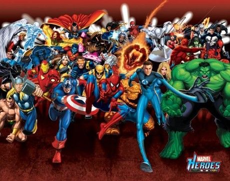 PICTURE PRINT NEW MARVEL COMICS COLLAGE POSTER LAMINATED 61X91CM