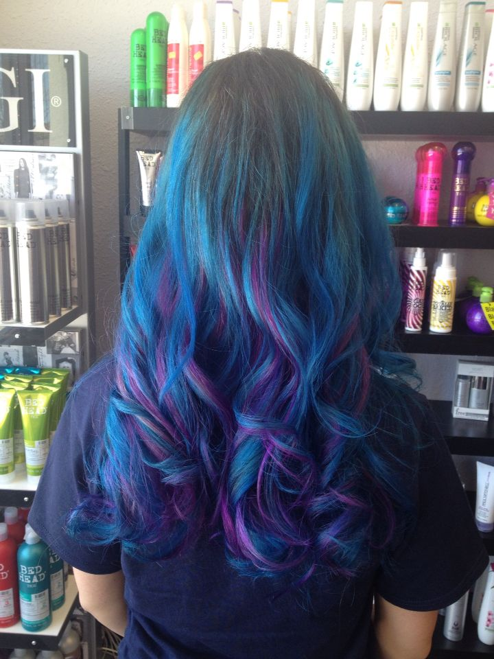 Aqua And Radiant Orchid From Ion Color Brilliance Blue Hair