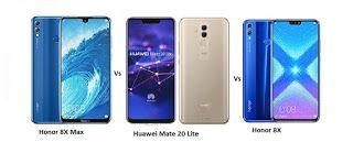 Comparison of Huawei Honor 8X Vs Huawei Mate 20 Lite Vs Huawei Honor