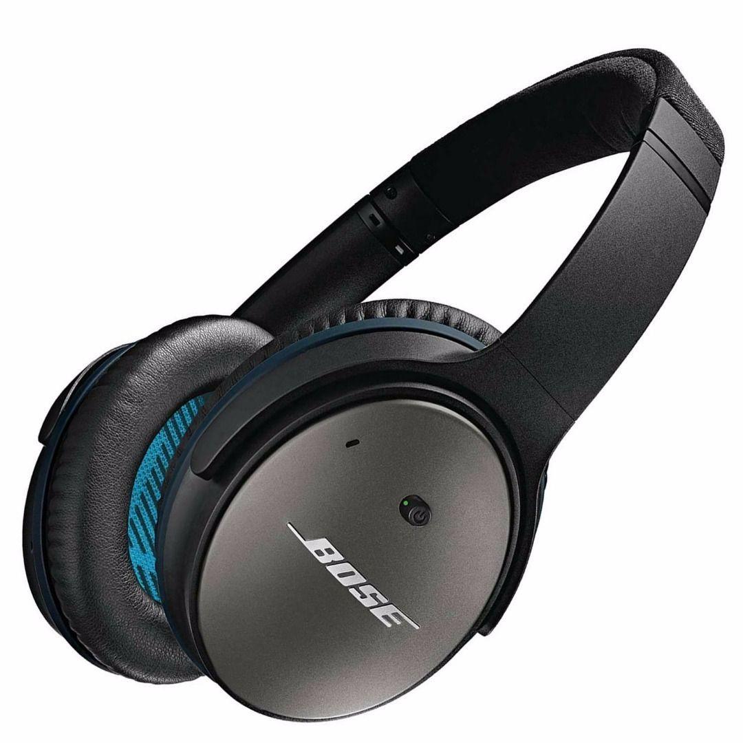 Bose Quietcomfort 25 Acoustic Noise Cancelling Headphones Apple Devices Black Best Over Ear Headphones Best Noise Cancelling Headphones Headphones