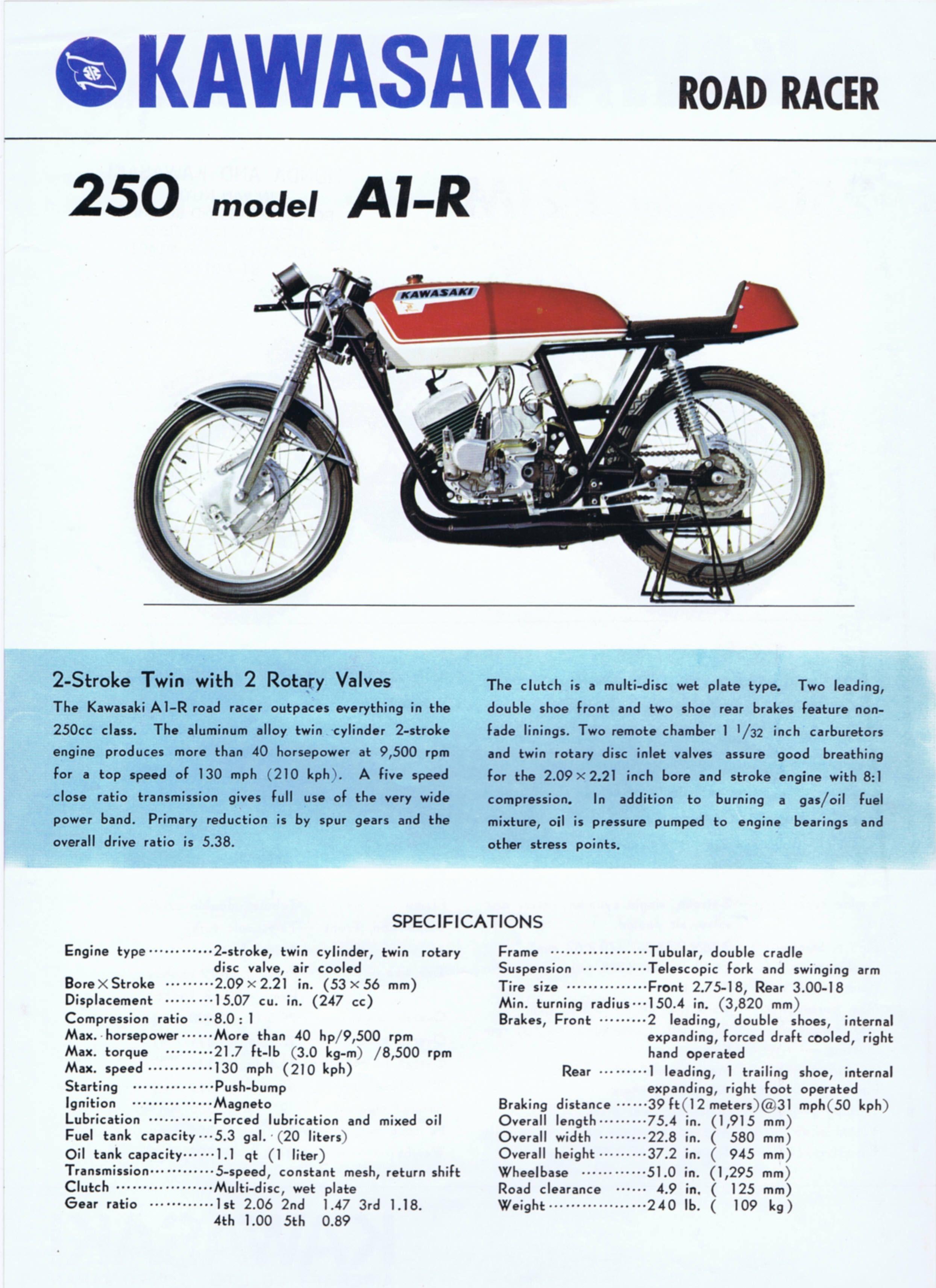 1969_Kawasaki 250 A1-R + 250 F21M 2-stroke USA_01   バイク