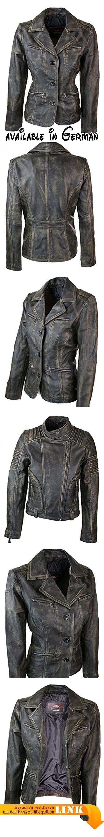B06Y61K41R   Damenjacke 100% Echtleder Schwarz Braun Eng Tailliert Vintage  Gold. weiches Nappa Leder c00c801a18