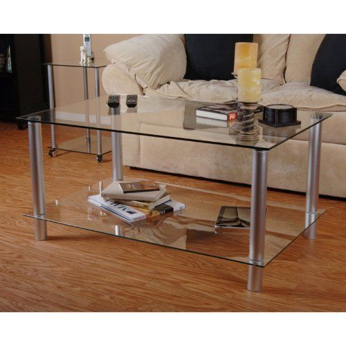 RTA Home and Office T1D-132 NEW Tier One Designs Clear Glass and Aluminum Coffee Table by RTA Home and Office. $139.99. 2 tempered glass shelves and aluminum frame construction. Glass thickness: 8 mm. Floor levelers included. Easy to assemble. Clear glass with silver frame.  About RTA Home and Office If you've decided to outfit your home or office with sleek, modern style, look no further than the RTA Home and Office product line...