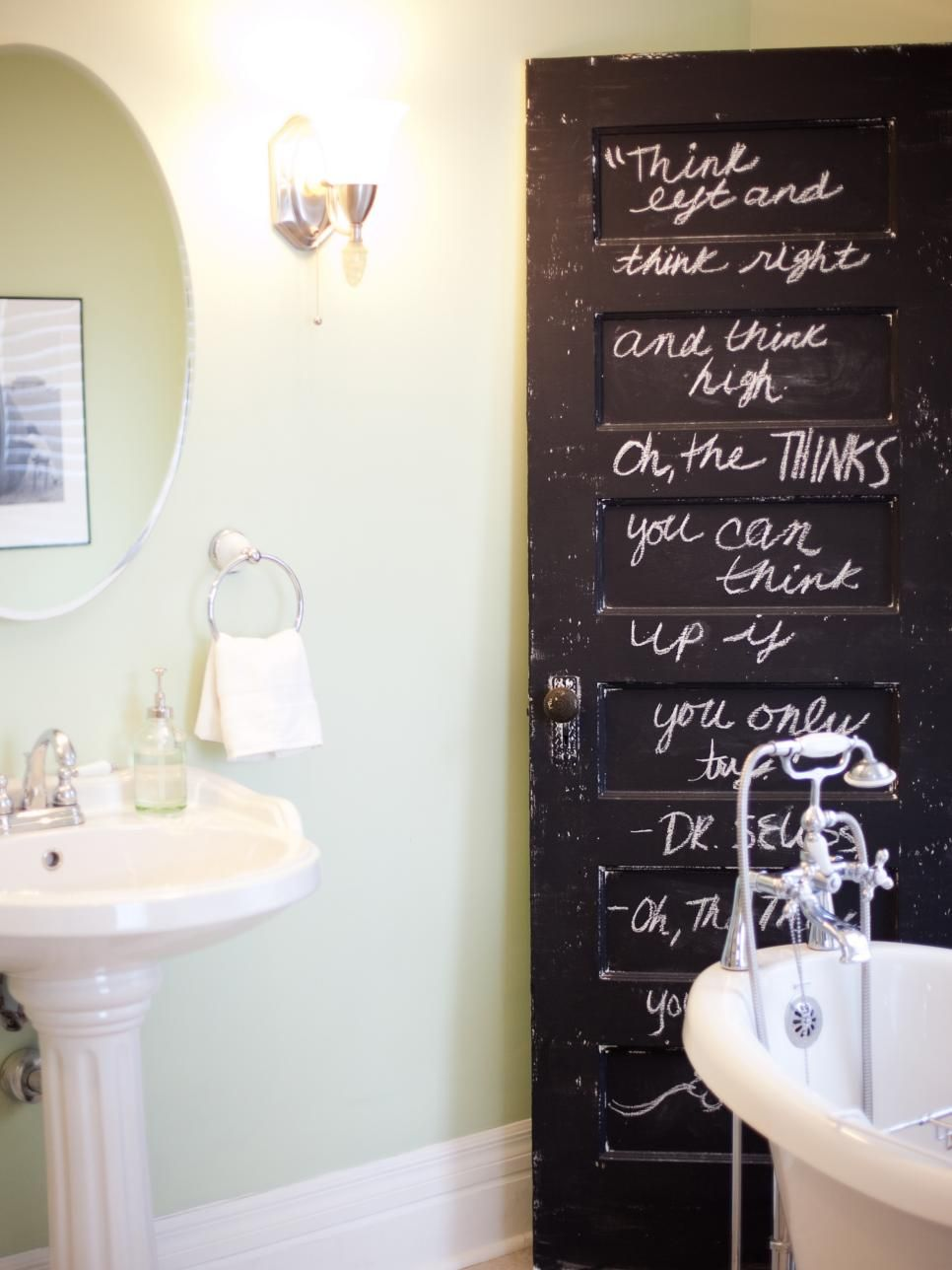 Original_Birdhouseinteriordesignchalkboardpaintbathroom Prepossessing Painting Small Bathroom Decorating Design