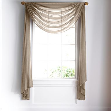 Window Treatment jcpenney valances window treatments : Royal Velvet® Chantal Sheer Scarf Valance - jcpenney | cortinas ...