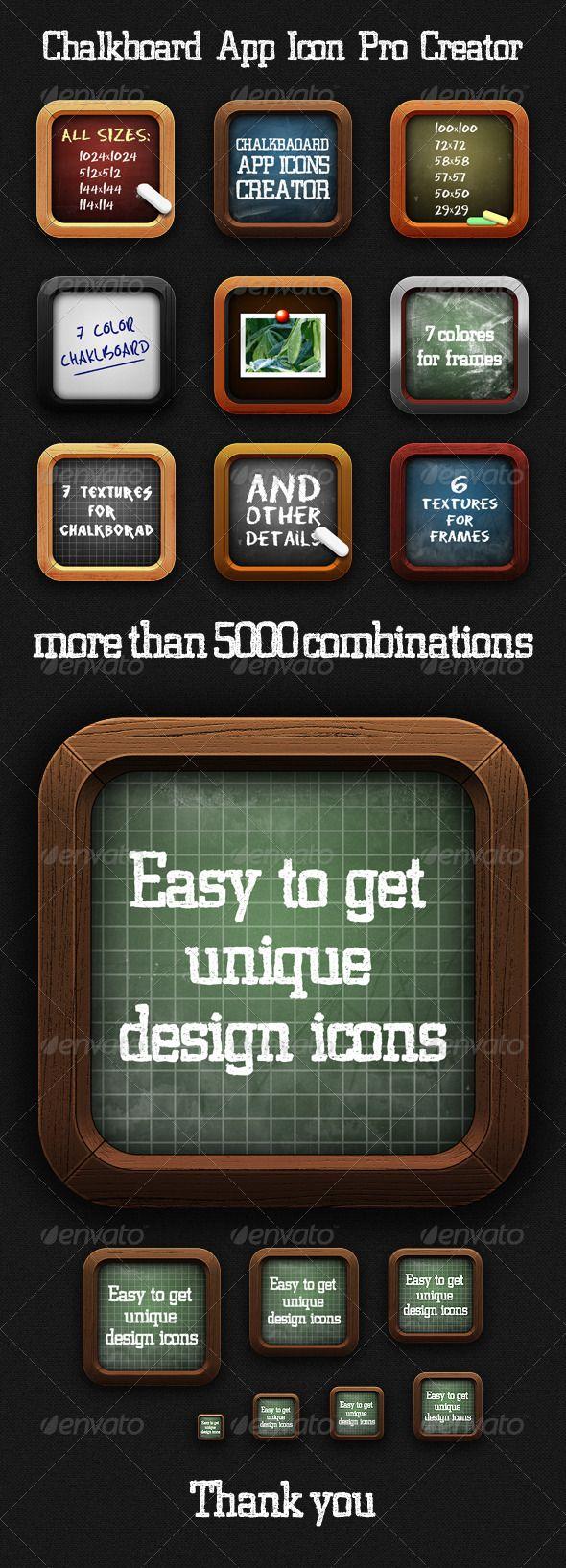 Chalkboard App Icon Pro Creator   UI Element   Ios app icon, App