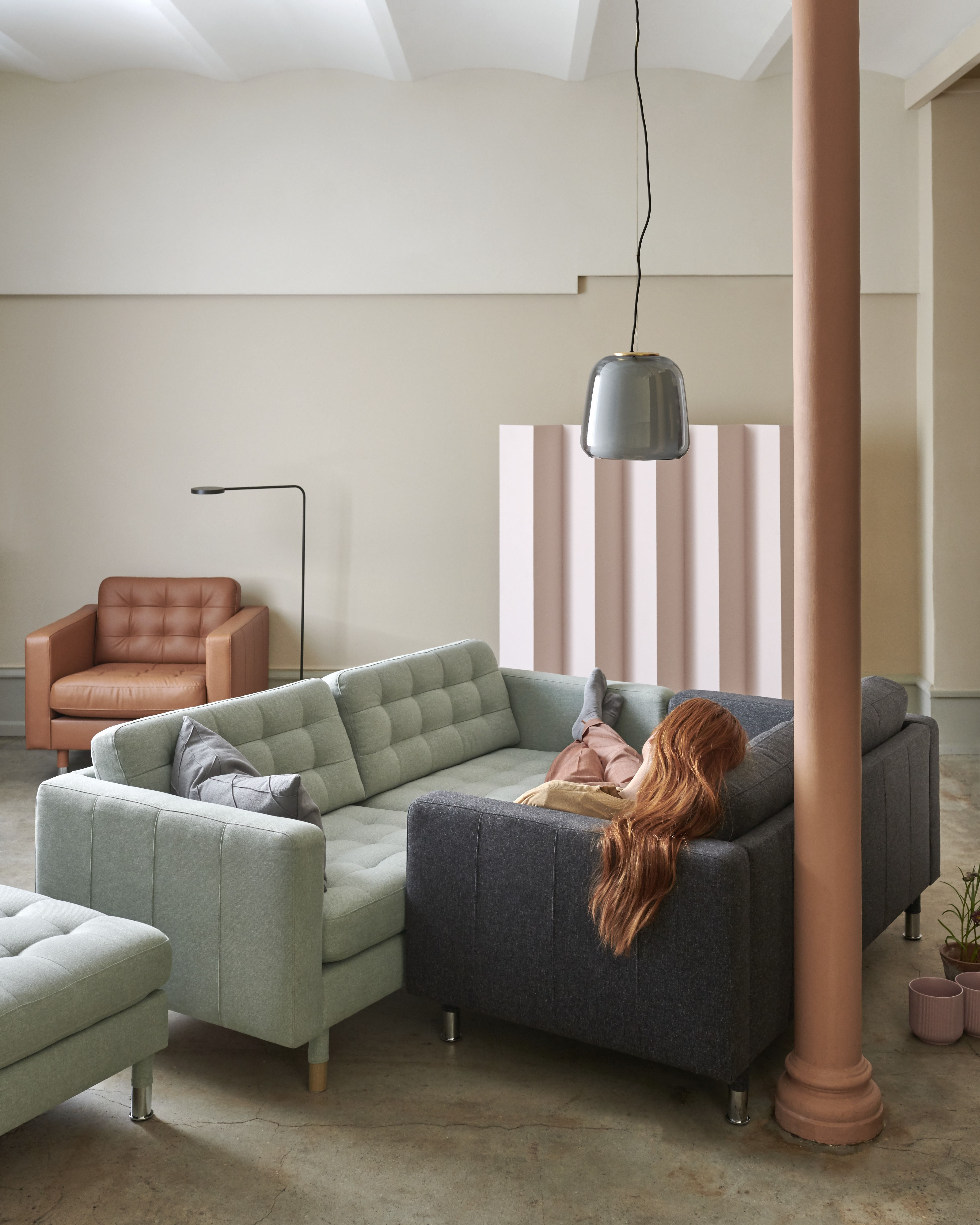 Ikea S New August Launches Are Surprisingly Luxe Ikea Living Room Living Room Sectional Landskrona