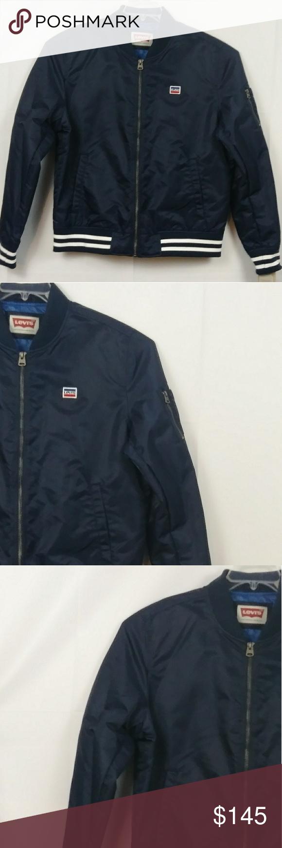 Nwt Levi S Varsity Bomber Jacket Men S Size Xl Bomber Jacket Mens Varsity Bomber Jacket Clothes Design [ 1740 x 580 Pixel ]