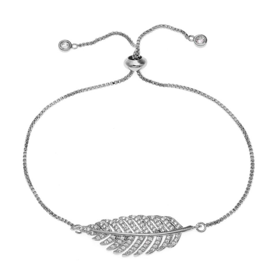 Bracelet plume Swarovski   Bijoux tendance, Bracelets tendance ...