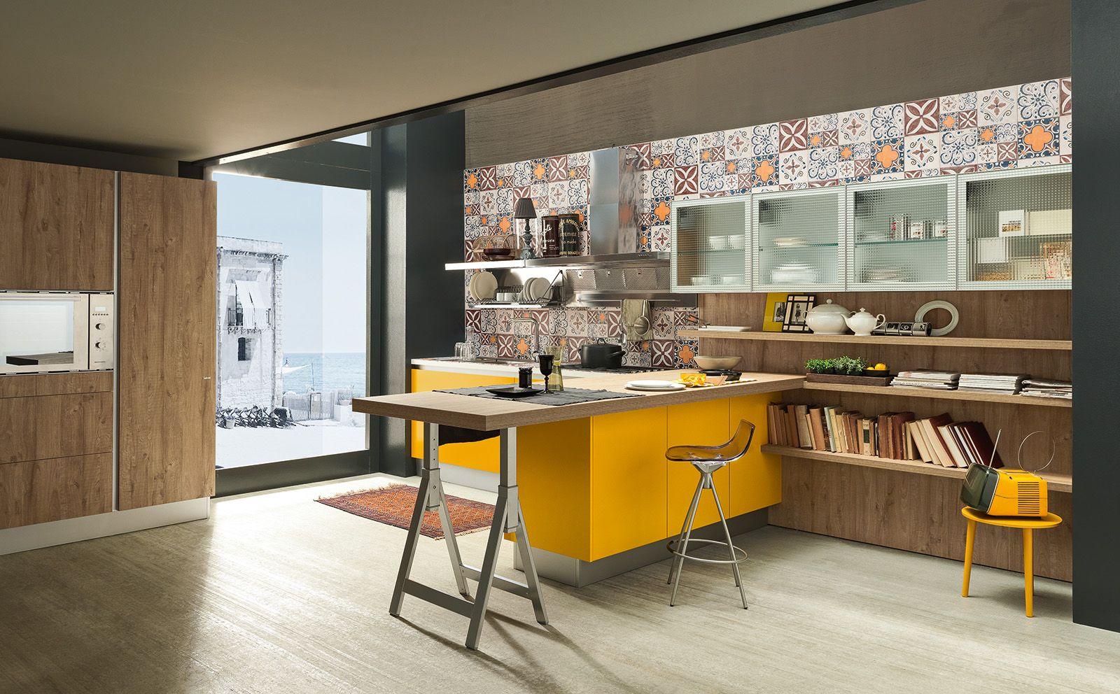 La cucina con il tavolo... da architetto | Industrial