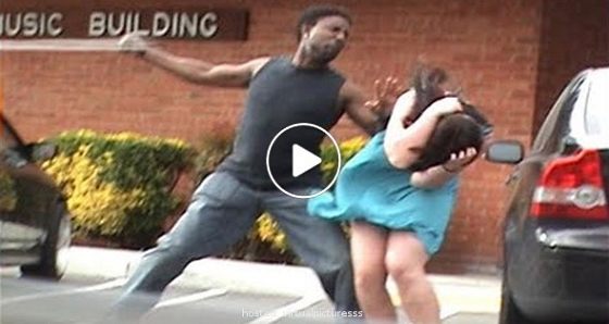 This Guy Hits His Girlfriend, Watch What He Gets In Return!