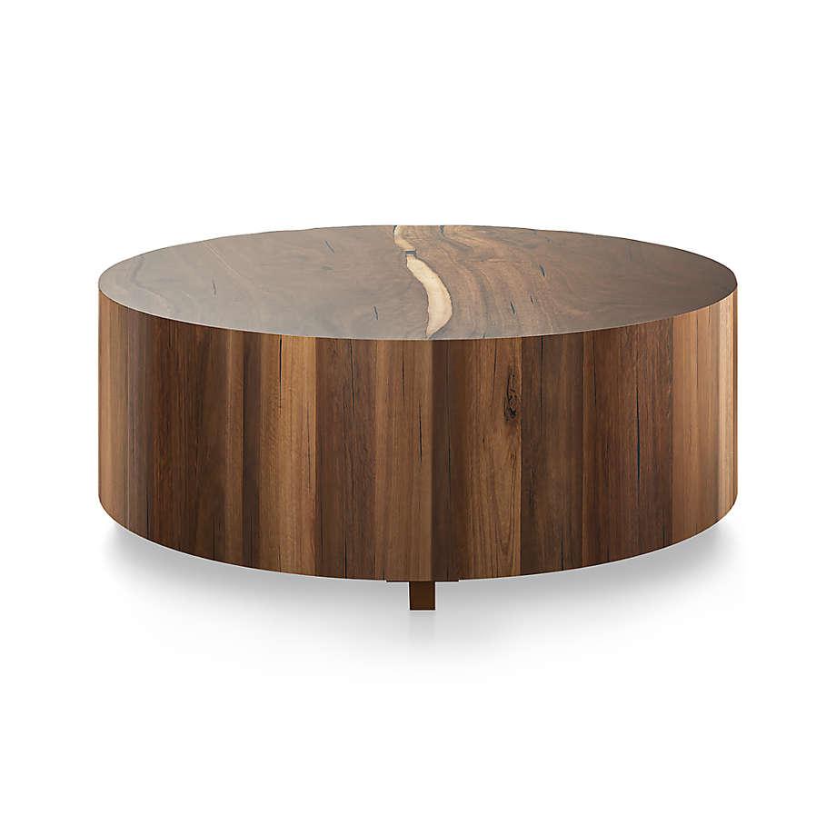 Dillon Natural Yukas Round Wood Coffee Table Reviews Crate And Barrel In 2021 Round Wood Coffee Table Coffee Table Wood Coffee Table Crate And Barrel