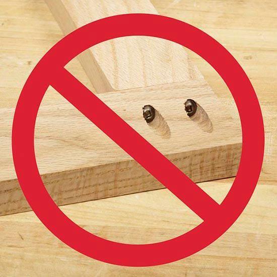 Drill pocket holes so screws thread into edge or face grain