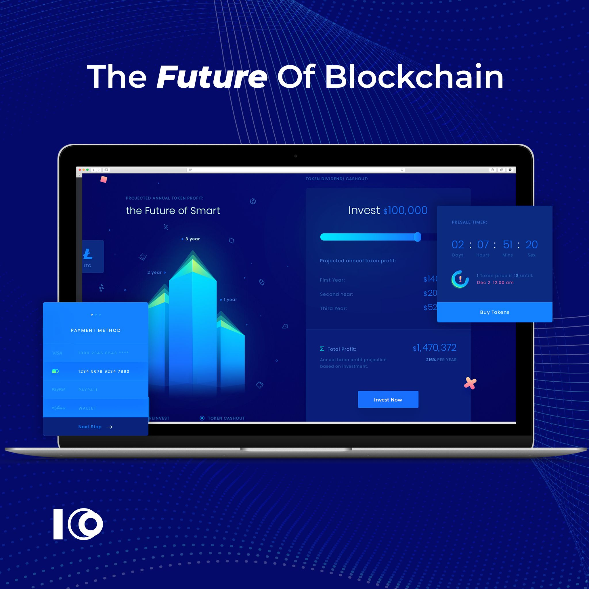 The blockchain is the technology backbone of the network