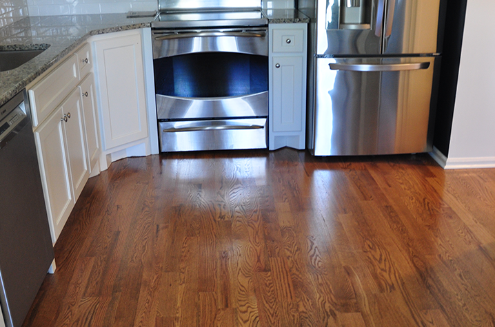 This is a Red Oak Solid sand and finish hardwood floor