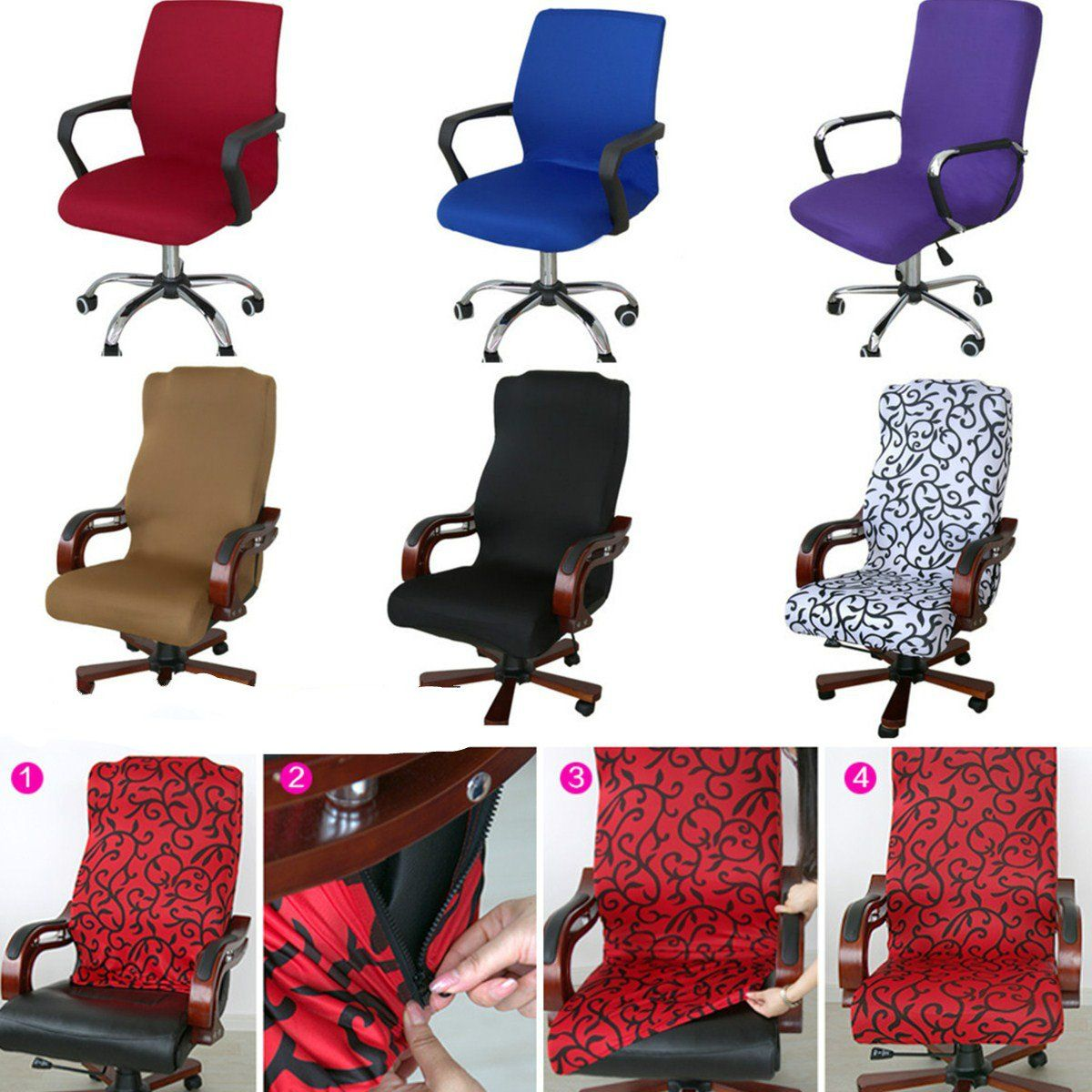 Modern Homeoffice Computer Desk: Caveen Office Chair Cover Computer Chair Universal Boss