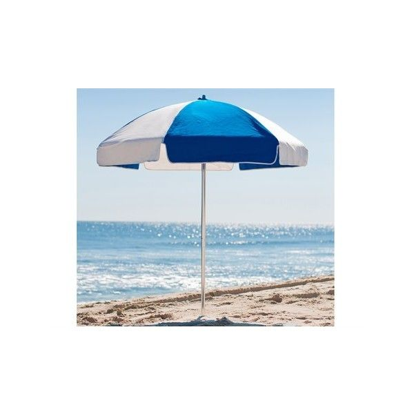 Frankford Umbrellas Steel Beach 6.5 Foot Wide Manual Lift No Tilt... (€100) ❤ liked on Polyvore featuring home, outdoors, patio umbrellas, tilt patio umbrella, round wall shelf, frankford and steel wall shelf