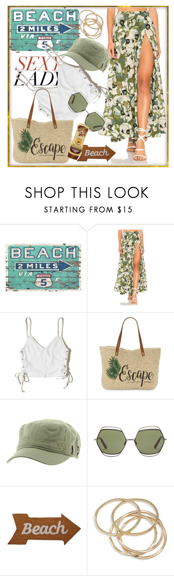"""""""'Beach Time'"""" by stars-5 ❤ liked on Polyvore featuring Free People, Hollister Co., Straw Studios, Roxy, Missoni, Mud Pie and ABS by Allen Schwartz"""