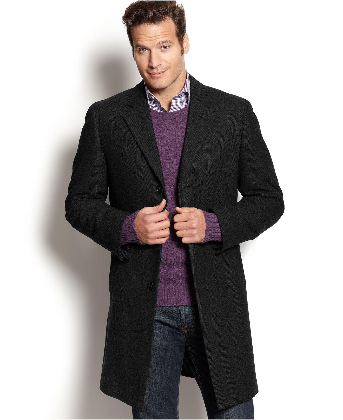 Man overcoat