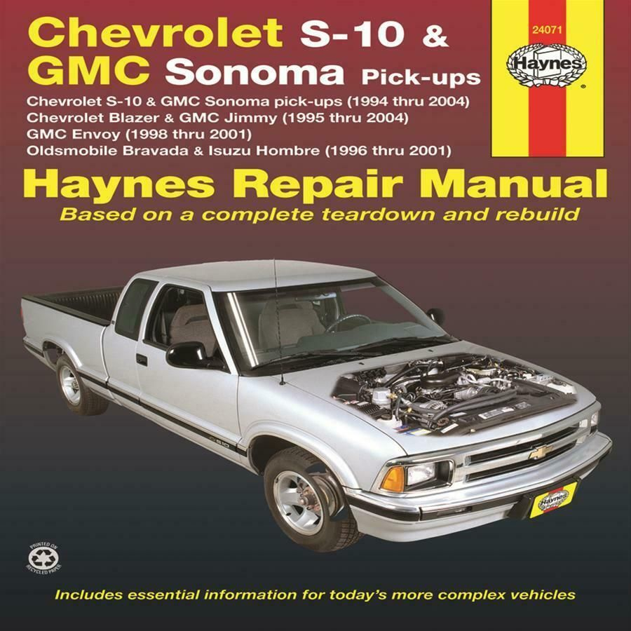 Advertisement Ebay Haynes 24071 Chevrolet S 10 94 04 288 Pages