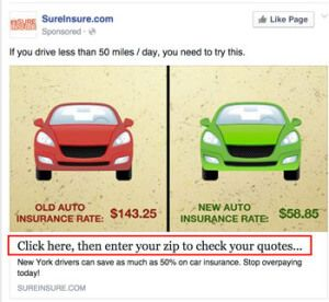 Automobile Insurance Sureinsure With Images Facebook Ads