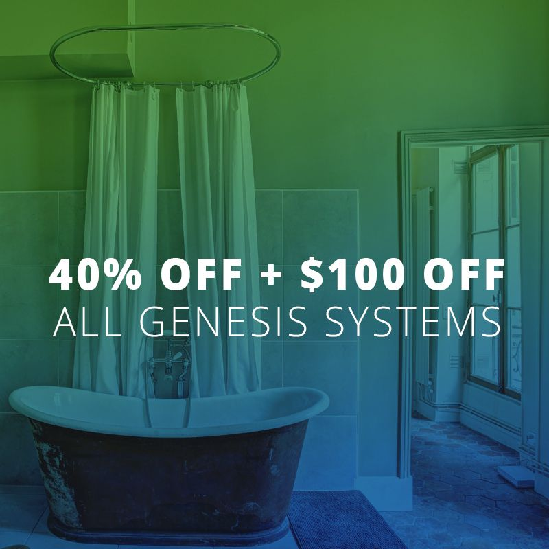 Save On Genesis Systems Water Softener Basic Shower Curtain