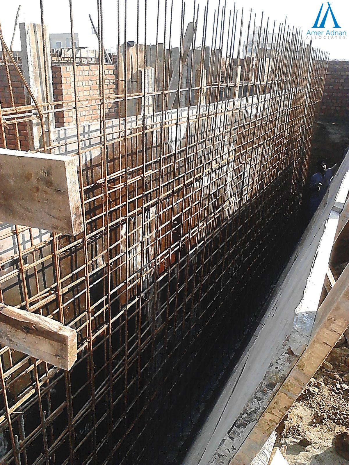 Scaffolding Steel Fixing For Basement Retaining Wall By Ameradnan Associates Interior Design And Construction Best Interior Design Interior Decorating