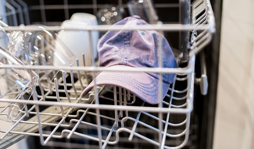 Yes You Can Wash Your Baseball Caps In The Dishwasher Use These Guidelines To Make Sure You Washing Hats In Dishwasher How To Wash Hats Washing Baseball Hats