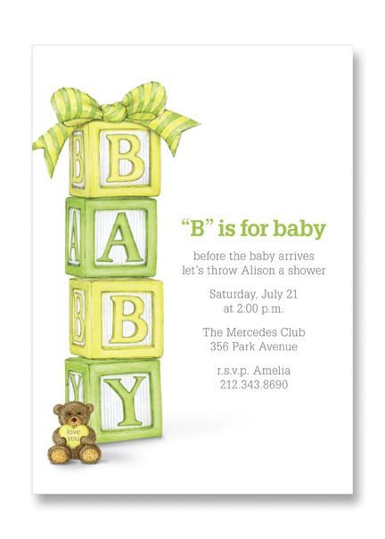 Ann scott baby block bow invitation baby blocks baby shower teddy ann scott baby block bow invitation baby blocks baby shower teddy bear filmwisefo