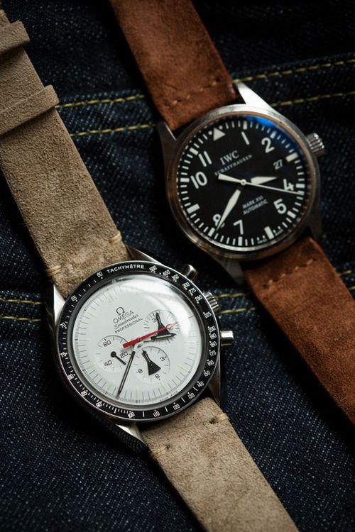iwc on no-stitched suede wristbands