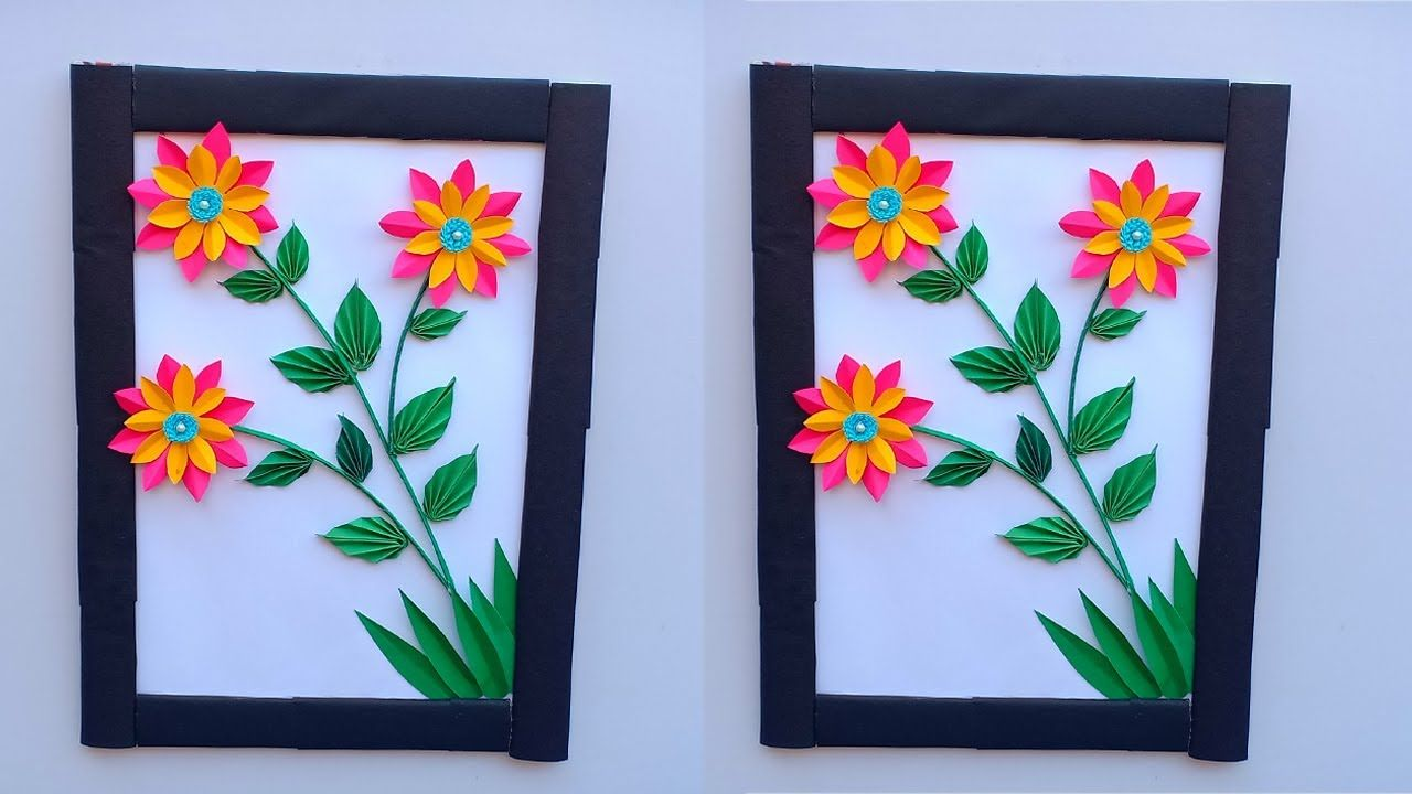 Diy Easy Paper Flower Wall Hanging Decoration Diy Room Decor Crafts Kerajinan Dekorasi Bunga Kertas Ide Kerajinan
