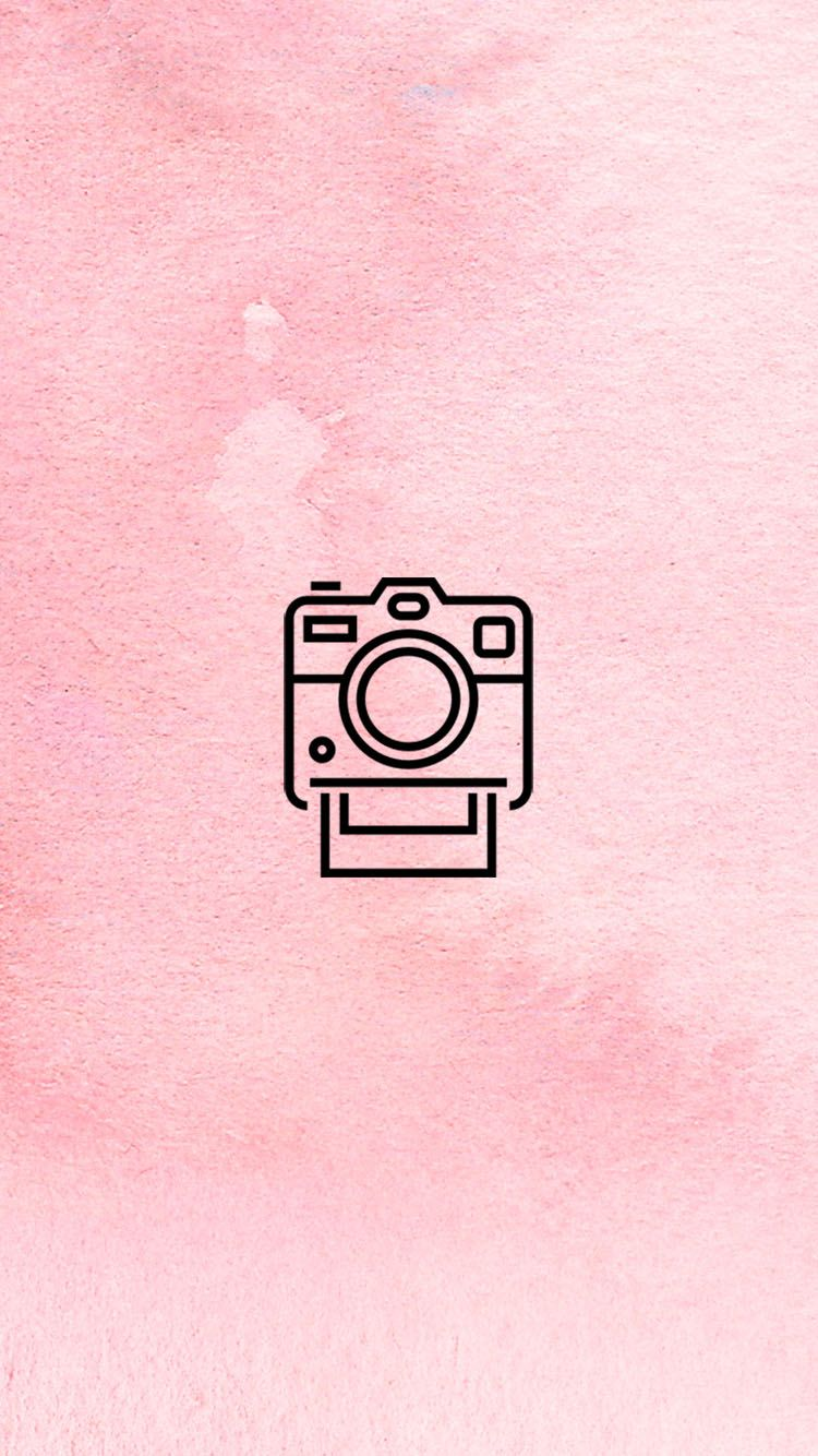 INSTAGRAM STORY COVER POLAROID CAMERA BLUSH WWW